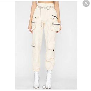 Hot n delicious Mendocino - M beige cargo pants